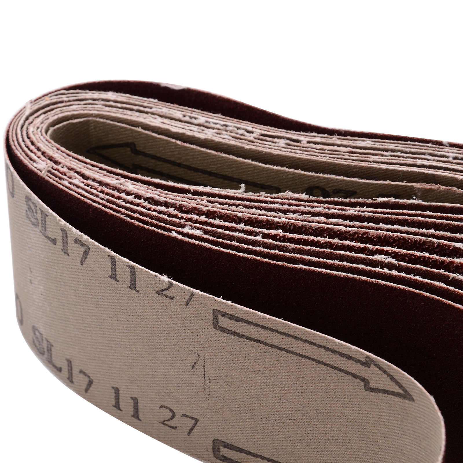 5 Pcs 75mm x 533mm Coarse 40 Grit Abrasive Sanding Belts Electric Belt Sander