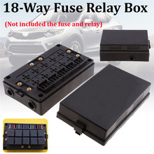 Car Blade Fuse Holder Relay Socket Black Box 18 Way Blade Fu