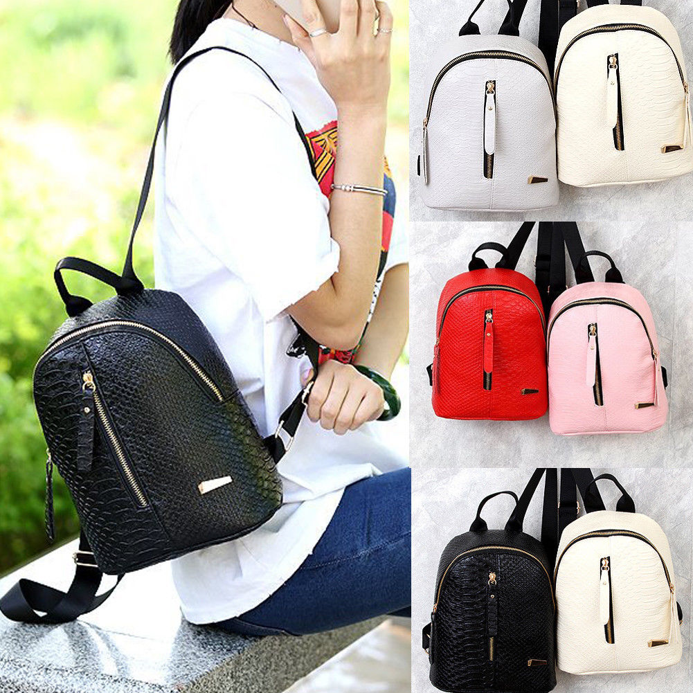 New Women PU Leather Backpack Girl Small  Backpack Travel Bag School Bag BlackNew Women PU Leather Backpack Girl Small  Backpack Travel Bag School Bag Black