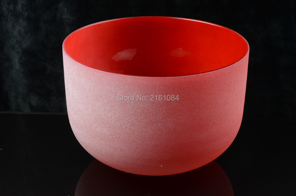 9 C# Root Chakra Red Colored Frosted Quartz Crystal Singing Bowl with free suede and o-ring9 C# Root Chakra Red Colored Frosted Quartz Crystal Singing Bowl with free suede and o-ring