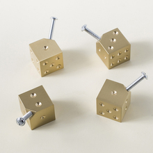 Gold Square Shape Brass Knob/ Wine Cabinet Door Knobs And Handles Furnitures Cupboard Wardrobe Drawer Pull
