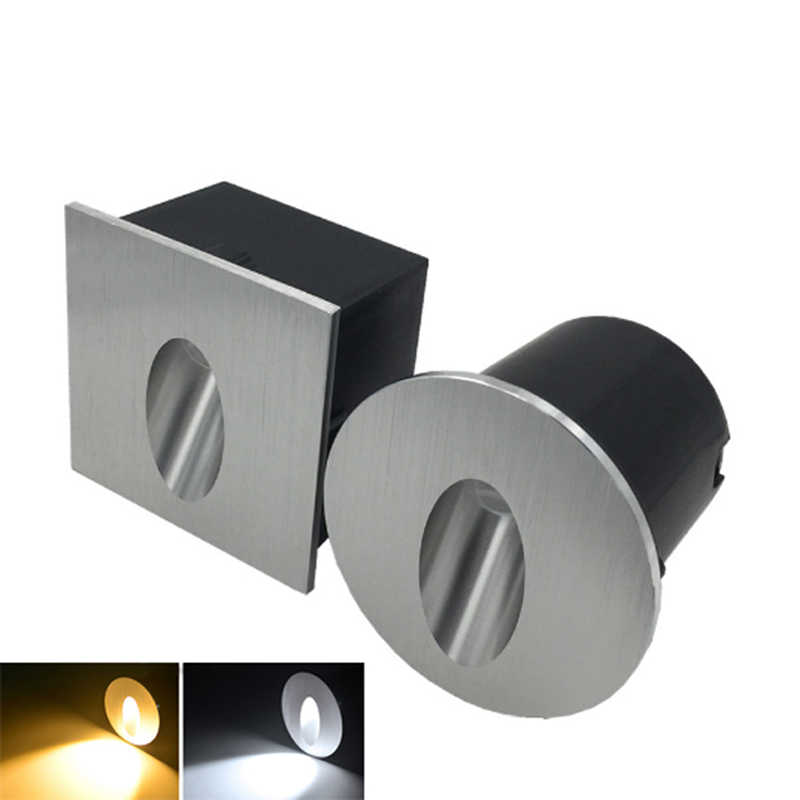 Aluminum Modern Brief LED Stair Lights AC85-265V 3W  Wall Mounted Staircase Background Recessed Stair Step Aisle Lamps