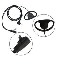 2-pin D Shape Earpiece Headset PTT Mic for Motorola GP88 CT150 P040 Radio Single Hanging ear type Earphones Interphone