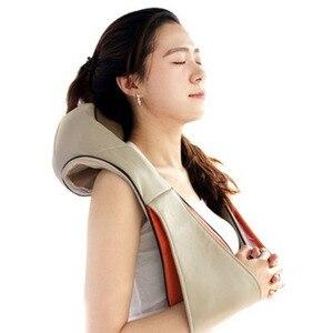 Image 5 - Elektrikli Boyun Shiatsu Rulo Masajı Sırt Ağrısı Kızılötesi Isıtma Masajı Gua Sha Ürün Vücut Sağlık Ev Araba Relax