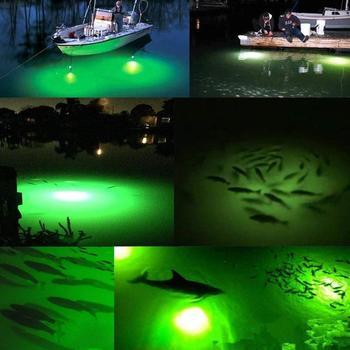 12 V/50 W Luce di Pesca 276 SMD5630 LED Pesce Esca Sott'acqua Finder Lampada per Gamberi Calamari Krill Bianco lampada Da Pesca verde Dropship
