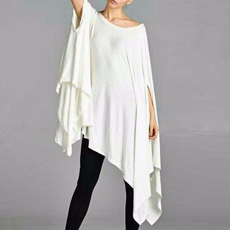 Zanzea   Blouse     Shirts   Women Loose Half Sleeve O-neck Solid Long Kimono   Shirt   2019 Casual Irregular Hem Party Top   Shirts   Plus Size