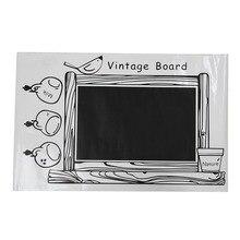 цена на PVC Framed Blackboard Removable Wall Sticker Chalk Board Chalkboard Decal