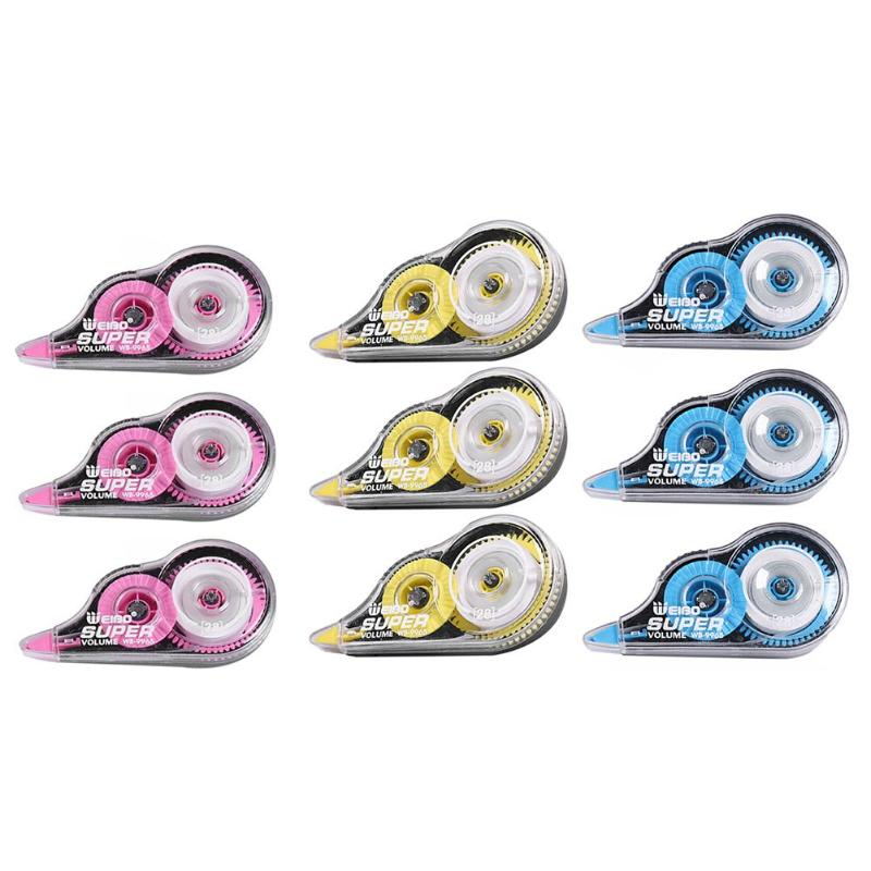 3pcs/set Correction Tape Student Children Corrector Tapes Office School Stationery Supplies