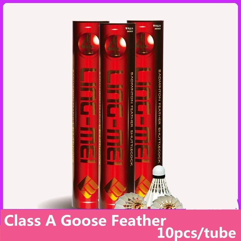 Badminton Shuttlecocks LING MEI NO5 Goose Feather Stable Durable Good Feeling Excellent For Amateur Competition Q7005SHC-in Shuttlecock from Sports & Entertainment    1