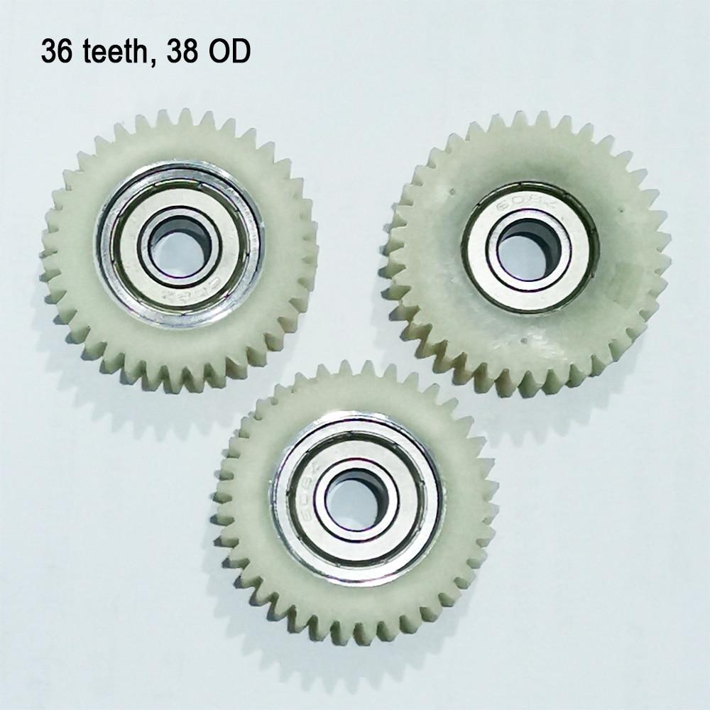 3pcs 36 Teeth 38mm Nylon Electronic Motor Wheel 8FUN Gear Electrical Bike Bicycle Tricycle 608 Z Ball Bearing Spur Gears