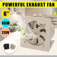 Warmtoo 220V 6 Inch 40W Mini Wall Window Exhaust Fan Bathroom Kitchen Toilets Ventilation Fans High Speed Energy Saving Fan