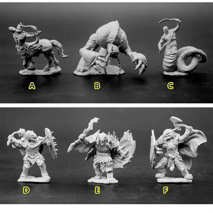 เรซิ่นรุ่นตัวเลข Dungeons และมังกร DND 1/72 Scale แฟนตาซี Magic รูปสัตว์ประหลาด Lizard คน Albuginea Diy ชุดของเล่น-ใน ชุดการสร้างโมเดล จาก ของเล่นและงานอดิเรก บน   1