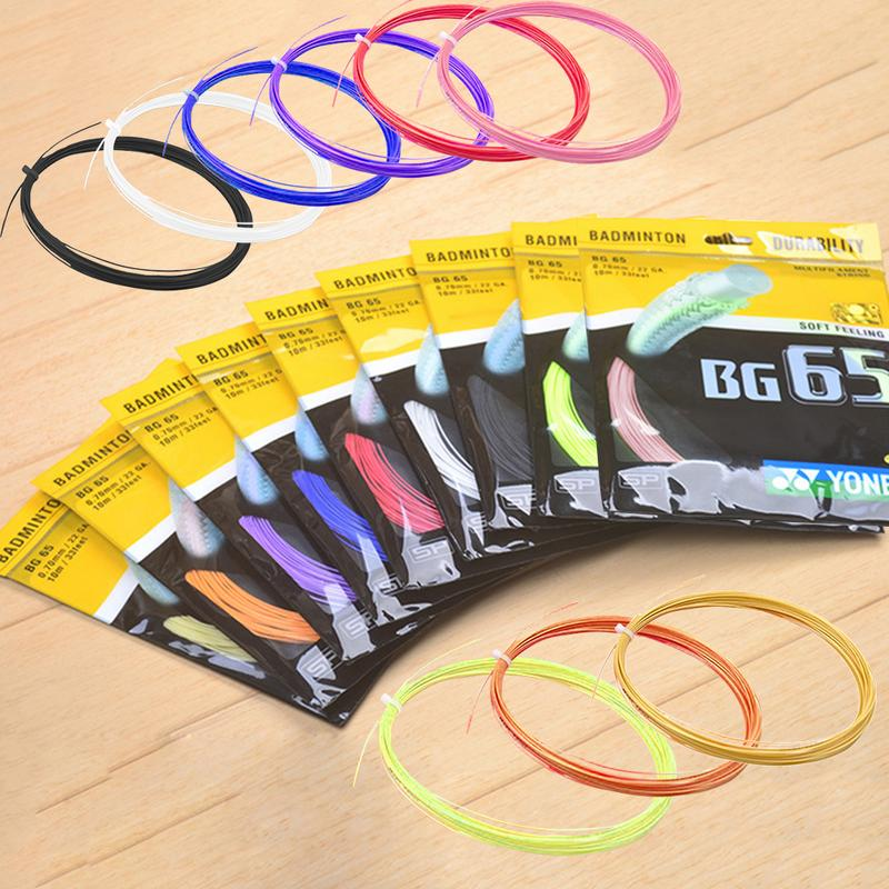 New 1 Bag 17 Colors Professional Badminton String Shuttlecock Net Of National Team Durable Repulsion Power Line Net BG65 BG95