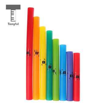 Tooyful Finest Plastic 8 Pitch C Major Diatonic Scale Tubes Set Shopkins Toy Novelty Percussion Instrument Pack Kids Toys Gift