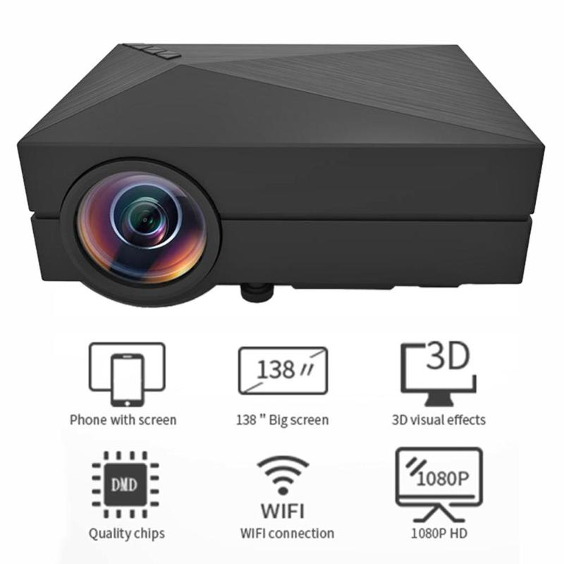 GM60 Home Theater HDMI USB VGA AV LCD Mini 1080P 3D Projector Media Beamer With  3 in 1 AV Cable And Remote ControllerGM60 Home Theater HDMI USB VGA AV LCD Mini 1080P 3D Projector Media Beamer With  3 in 1 AV Cable And Remote Controller