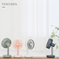 Zaiwan Manual Fan with Battery 3 Speed Adjustable Portable Ventilador 4000mAh Rechargeable USB Desk Air Cooling Fan Dropshipping