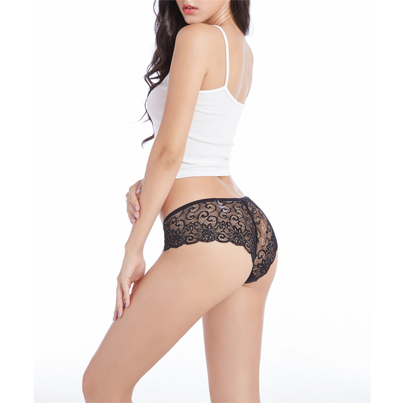 Womens Girls Sexy Lace Underwear Briefs   Panties   G-string Lace perspective   panties   briefs Thongs
