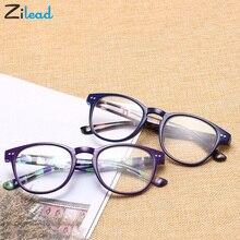 Zilead Ultralight Women Men Eyeglasses Plastic Full Frame Retro Reading Glasses Clear Camouflage Color Spring Lens Presbyopia