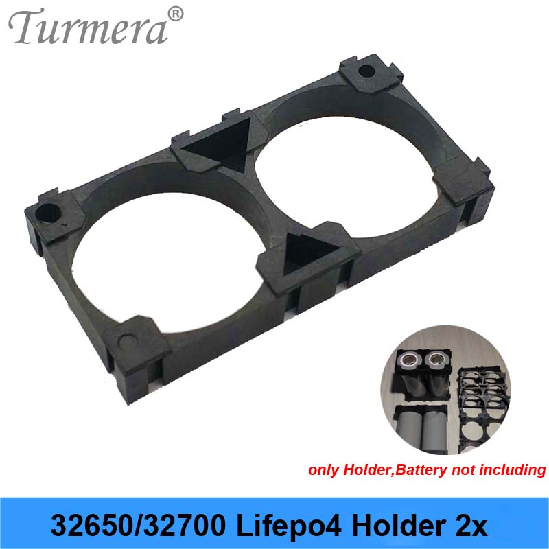Turmera 32650 32700 2x Battery Holder Cell Safety Anti Vibration Plastic Brackets For 32650 32700 Battery Pack