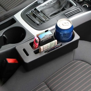 Image 2 - Car Seat Crevice Storage Organizer Console Side Pocket Auto Seat Gap Pocket Organizer with Coin Box and Water Cup Holder