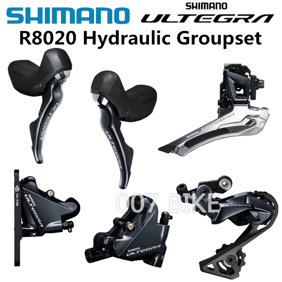 SHIMANO R8020 Groupset 105 R8020 Hydraulic Disc Brake Derailleurs ROAD Bicycle R8020 R8070 shifter Front REAR