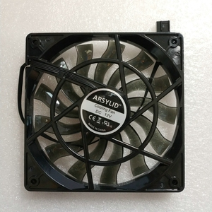ARSYLID 12015BM 12cm 120mm 15mm ultra-thin cooling fan for computer case 4pin PWM Black transparent