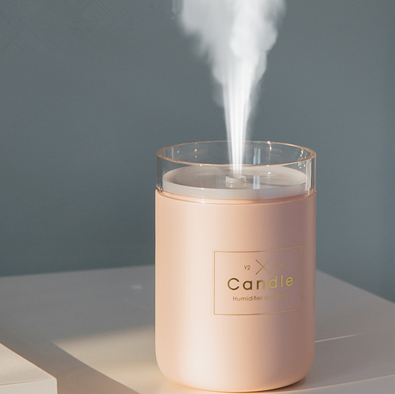 280ML Ultrasonic Air Humidifier Candle Romantic Soft Light USB Essential Oil Diffuser Car Purifier Aroma Anion Mist Maker 2019