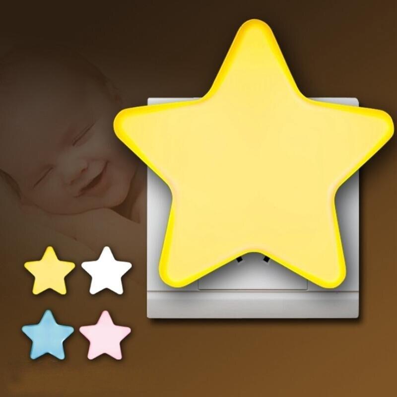 T20 controle do sensor mini estrela lua led night light para noite escura crianças quarto lâmpada de cabeceira ue/eua plug bebê dormir luz
