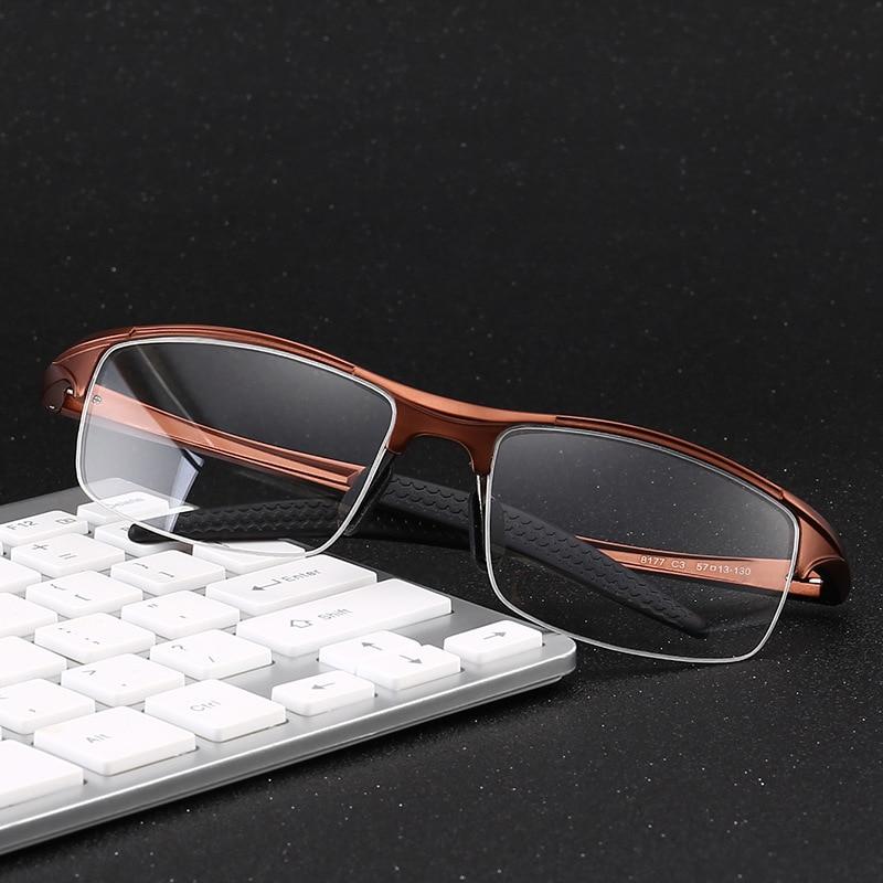 df010713e4 Brand Sports Glasses Men Half-rim Goggles Cycling Glass Aluminum Magnesium  Myopia Eyewear Frames Prescription