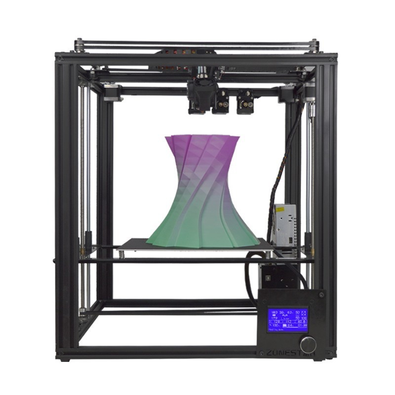 ZONESTAR Dule Three Extruder Mix Color Full Metal Large Aluminum Frame 3D Printer DIY Kit Auto