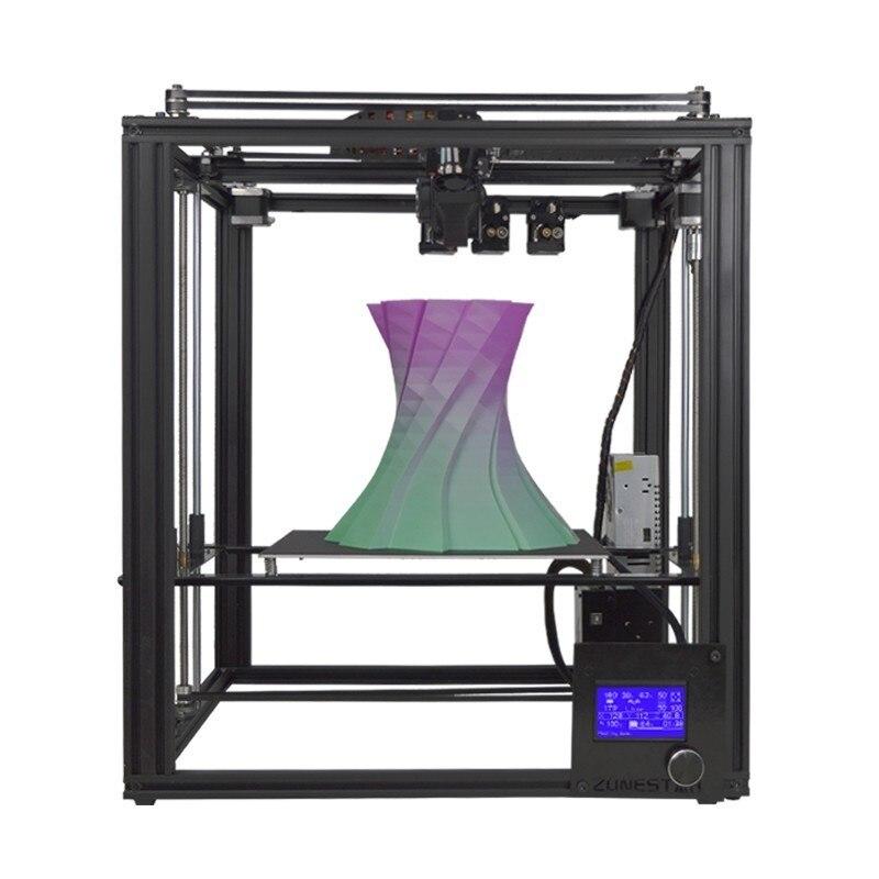 ZONESTAR Dule Três Extrusora Cor Da Mistura de Metal Cheia Grande Moldura De Alumínio Kit DIY Impressora de Auto Nível 3D Opcional de Gravação A Laser