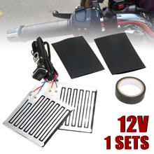 Motorcycle Frames & Fittings 12V Motor Heated Grip Inserts Heating Handlebar Grips Warmer + Adjustable Switch