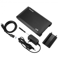 OIMASTER US Plug HDD Enclosure Hard Disk Drive Case For 3.5 Inch SATA To USB 3.0 SDD Adapter