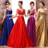 New Fashion A Line O Neck Side Split Sequin Elegant Long Formal Dresses 2019