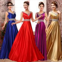 New Fashion A Line O Neck Side Split Sequin Elegant Long Formal Dresses 2019