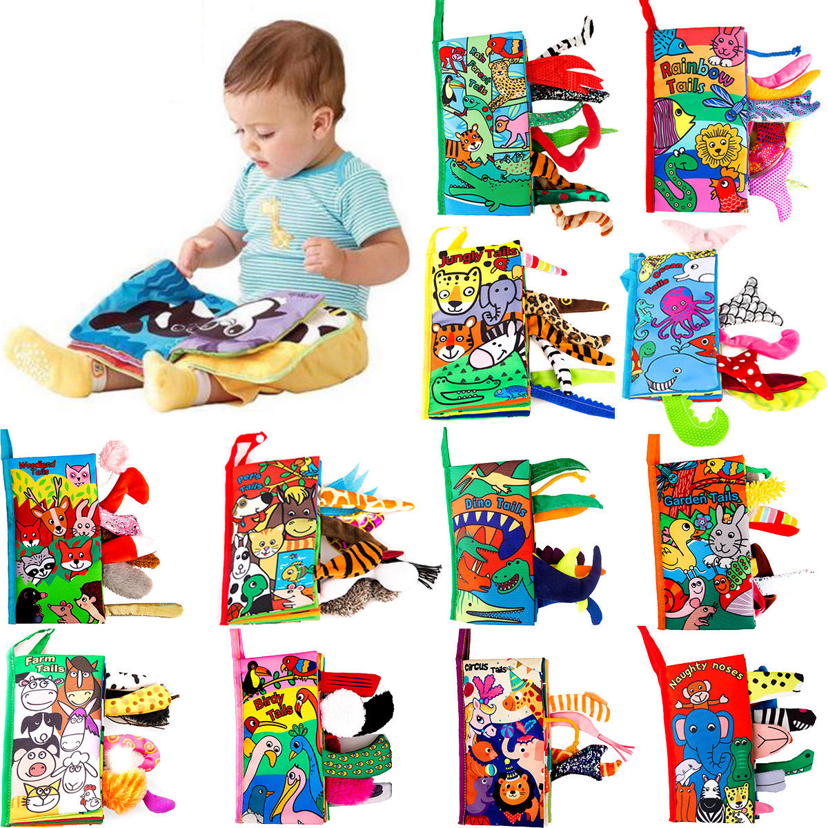 Pudcoco Baby Book US Kids Baby Intelligence Development Cloth Bed Cognize Book Educational Toy