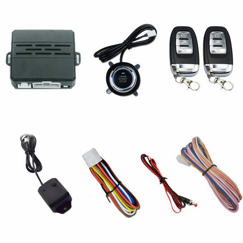 Un Bouton de Démarrage Du Moteur De Voiture système d'alarme vibratoire de Sécurité D'allumage Push À Distance 433 MHz Bouton de Démarrage Pour DC 12 V Voiture Auto
