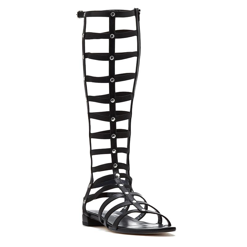 Wedge forme Spartiates Étroite Plate Bande Femmes Chic Pic D'été Es Designer Côté Zip As Appartements Femme De Sandales Chaussures Leat wXq0zRF