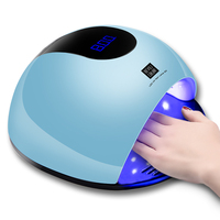 80W Smart Nail Lamp Dryer UV LED Nail Dryer Curing Lamps with Automatic Sensor Fingernail & Toenail Gel Curing Tool EU / US Plug