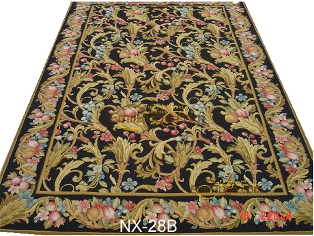 Aiguille-point chinois Oriental tissé à la main laine tapis rond laine chambre tapis laine à tricoter tapis