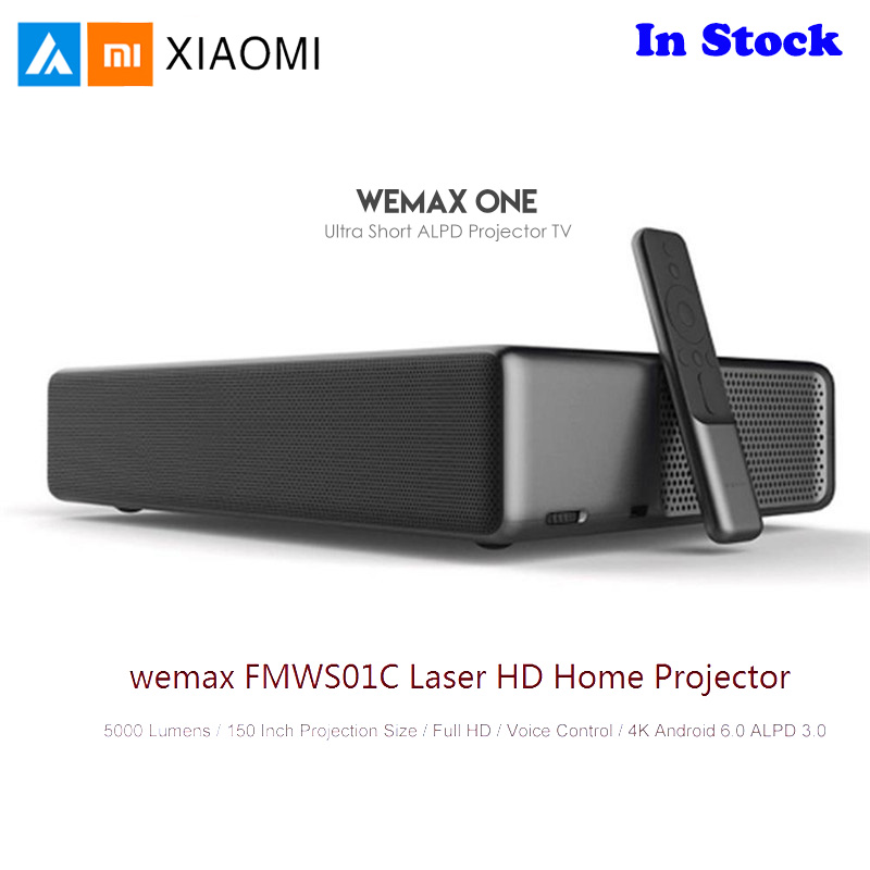 Xiaomi Mijia WEMAX Laser Home Theater Projetor Full HD Android 6.0 5000 Lumens TV 1080p 4K Controle de Voz BT Wifi DOLBY DTS 3D