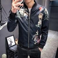 Flower Jacket Men 2019 Fancy Men Club Party Men Jackets Spring Chaqueta Para Hombre Cortaviento Hombre Slim Fit Chaqueta Hombre