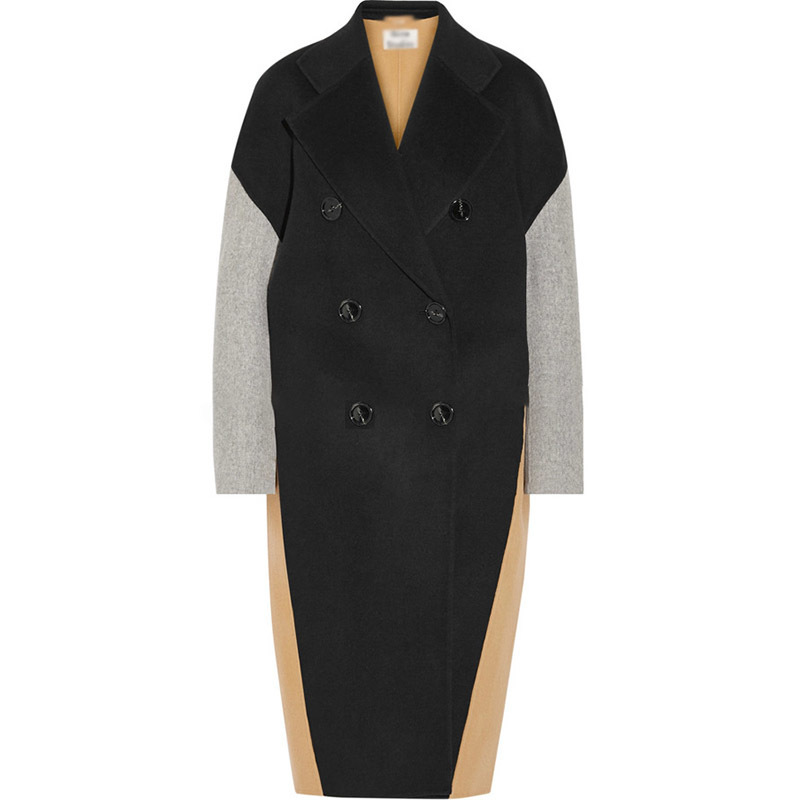 Manteau Veste Pour Couleur L'automne Contraste Oversize Color Mode En Matching Yf51901 Hiver 2019 Laine Manches Lanmrem Nouveauté Patchwork Plein YqtzqwZ