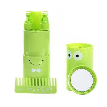 Wielofunkcyjny uchwyt na szczoteczki do zębów przenośny zestaw podróżny na zewnątrz kubek na szczoteczki do zębów zestaw toaletowy kubek do trzymania szczoteczki do zębów i pasty do zębów tanie i dobre opinie Szczoteczka dezynfekcji