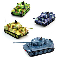цена на Rc Tank Portable 1:72 2117 Remote Control Mini German Military Tiger Tank w/ Sound Toys