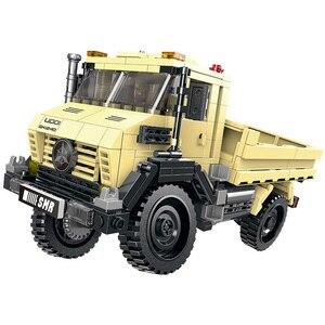 Image 4 - 500 ชิ้น + รถทั้งหมด Terrain Vehicle ชุด Building Blocks อิฐของเล่นสำหรับเด็กของขวัญเพื่อการศึกษาใช้งานร่วมกับบล็อก
