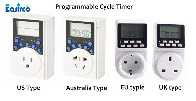 US/AUS/EU/UK standard Programmierbare Zyklus timer. Die minimun set up zeit 1 sekunde. Intervall timer. Ideal für Nebel kühlsystem