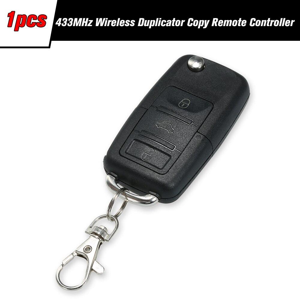 1 Pack 433MHz Wireless Duplicator Copy Remote Controller Clone Remotes Copy Duplicator For Gadgets Car Home Garage Black