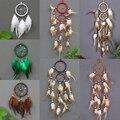 Настенное подвесное искусственное винтажное украшение для ловцов снов, украшение для автомобиля в стиле ретро, круглые перья, украшение дл...