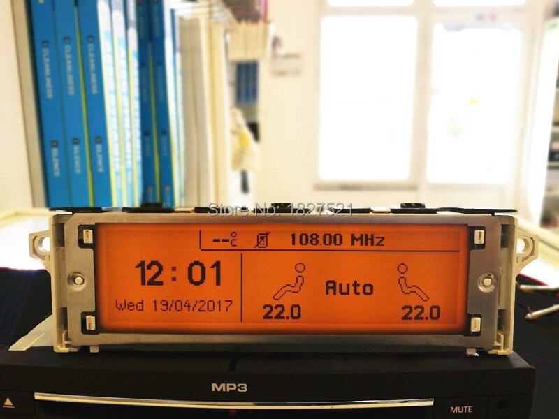 Top Qualidade!!!!!! Tela 12 Pino de Suporte USB Dual-zone Bluetooth Ar Display monitor para Peugeot 307 407 408 citroen C4 C5